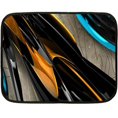 Abstract 3d Double Sided Fleece Blanket (mini)  by Simbadda