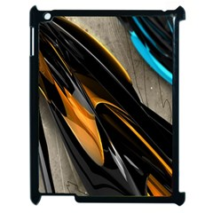 Abstract 3d Apple Ipad 2 Case (black) by Simbadda