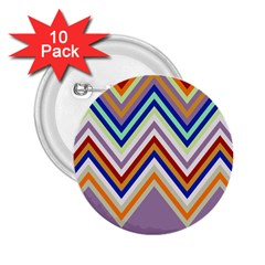 Chevron Wave Color Rainbow Triangle Waves Grey 2 25  Buttons (10 Pack)