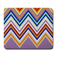 Chevron Wave Color Rainbow Triangle Waves Grey Large Mousepads by Alisyart