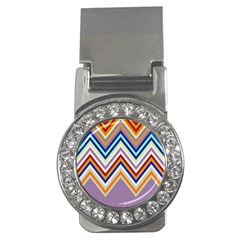 Chevron Wave Color Rainbow Triangle Waves Grey Money Clips (cz)  by Alisyart