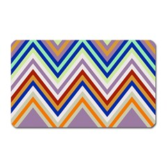 Chevron Wave Color Rainbow Triangle Waves Grey Magnet (rectangular)