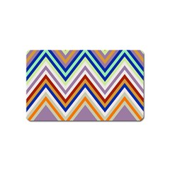 Chevron Wave Color Rainbow Triangle Waves Grey Magnet (name Card) by Alisyart