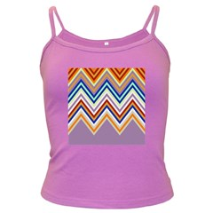 Chevron Wave Color Rainbow Triangle Waves Grey Dark Spaghetti Tank