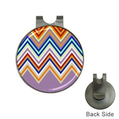 Chevron Wave Color Rainbow Triangle Waves Grey Hat Clips With Golf Markers