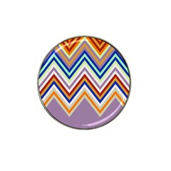 Chevron Wave Color Rainbow Triangle Waves Grey Hat Clip Ball Marker (4 Pack)