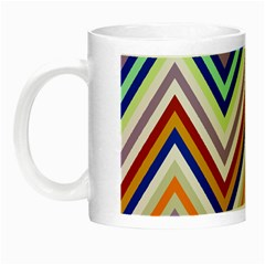 Chevron Wave Color Rainbow Triangle Waves Grey Night Luminous Mugs