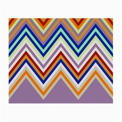 Chevron Wave Color Rainbow Triangle Waves Grey Small Glasses Cloth