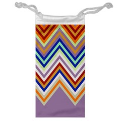 Chevron Wave Color Rainbow Triangle Waves Grey Jewelry Bag