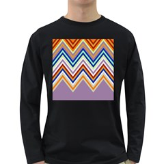 Chevron Wave Color Rainbow Triangle Waves Grey Long Sleeve Dark T Shirts