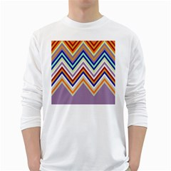 Chevron Wave Color Rainbow Triangle Waves Grey White Long Sleeve T Shirts