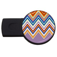 Chevron Wave Color Rainbow Triangle Waves Grey Usb Flash Drive Round (4 Gb)