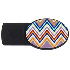 Chevron Wave Color Rainbow Triangle Waves Grey Usb Flash Drive Oval (4 Gb)