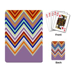 Chevron Wave Color Rainbow Triangle Waves Grey Playing Card