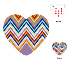 Chevron Wave Color Rainbow Triangle Waves Grey Playing Cards (heart)