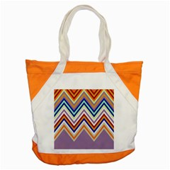 Chevron Wave Color Rainbow Triangle Waves Grey Accent Tote Bag