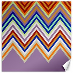 Chevron Wave Color Rainbow Triangle Waves Grey Canvas 12  X 12