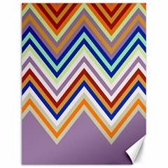 Chevron Wave Color Rainbow Triangle Waves Grey Canvas 12  X 16