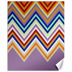 Chevron Wave Color Rainbow Triangle Waves Grey Canvas 16  X 20