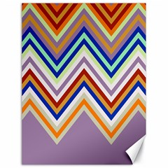 Chevron Wave Color Rainbow Triangle Waves Grey Canvas 18  X 24