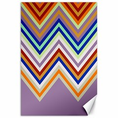 Chevron Wave Color Rainbow Triangle Waves Grey Canvas 24  X 36  by Alisyart