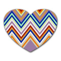 Chevron Wave Color Rainbow Triangle Waves Grey Heart Mousepads