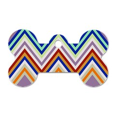 Chevron Wave Color Rainbow Triangle Waves Grey Dog Tag Bone (one Side)