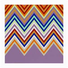 Chevron Wave Color Rainbow Triangle Waves Grey Medium Glasses Cloth (2 Side)