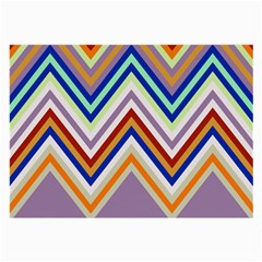 Chevron Wave Color Rainbow Triangle Waves Grey Large Glasses Cloth (2 Side)