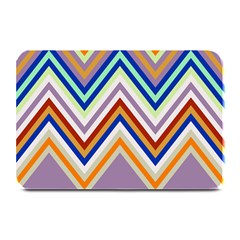 Chevron Wave Color Rainbow Triangle Waves Grey Plate Mats