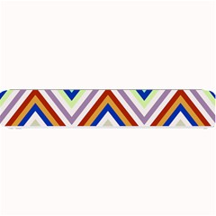 Chevron Wave Color Rainbow Triangle Waves Grey Small Bar Mats
