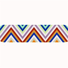 Chevron Wave Color Rainbow Triangle Waves Grey Large Bar Mats