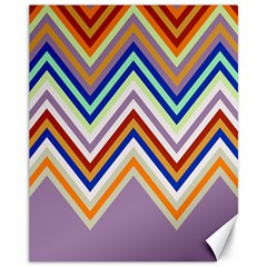 Chevron Wave Color Rainbow Triangle Waves Grey Canvas 11  X 14