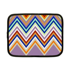 Chevron Wave Color Rainbow Triangle Waves Grey Netbook Case (small)