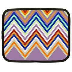 Chevron Wave Color Rainbow Triangle Waves Grey Netbook Case (large)