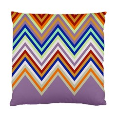 Chevron Wave Color Rainbow Triangle Waves Grey Standard Cushion Case (two Sides)