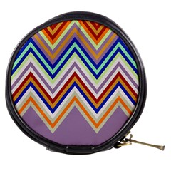 Chevron Wave Color Rainbow Triangle Waves Grey Mini Makeup Bags