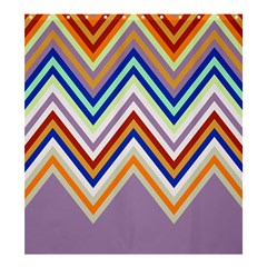 Chevron Wave Color Rainbow Triangle Waves Grey Shower Curtain 66  X 72  (large)  by Alisyart
