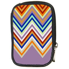 Chevron Wave Color Rainbow Triangle Waves Grey Compact Camera Cases