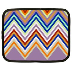 Chevron Wave Color Rainbow Triangle Waves Grey Netbook Case (xl)