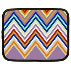 Chevron Wave Color Rainbow Triangle Waves Grey Netbook Case (xxl)