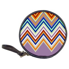 Chevron Wave Color Rainbow Triangle Waves Grey Classic 20 Cd Wallets