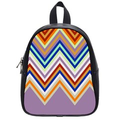 Chevron Wave Color Rainbow Triangle Waves Grey School Bags (small)  by Alisyart