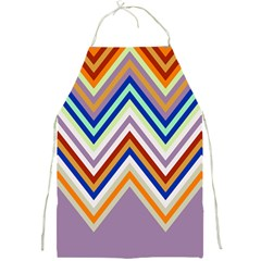 Chevron Wave Color Rainbow Triangle Waves Grey Full Print Aprons