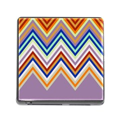 Chevron Wave Color Rainbow Triangle Waves Grey Memory Card Reader (square) by Alisyart