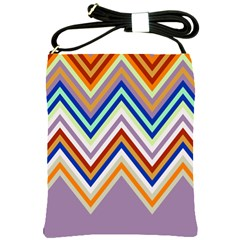 Chevron Wave Color Rainbow Triangle Waves Grey Shoulder Sling Bags