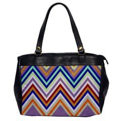 Chevron Wave Color Rainbow Triangle Waves Grey Office Handbags