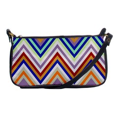 Chevron Wave Color Rainbow Triangle Waves Grey Shoulder Clutch Bags