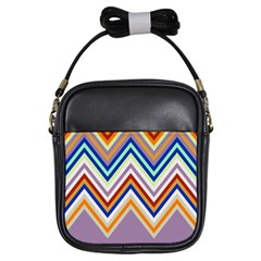 Chevron Wave Color Rainbow Triangle Waves Grey Girls Sling Bags