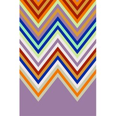 Chevron Wave Color Rainbow Triangle Waves Grey 5 5  X 8 5  Notebooks